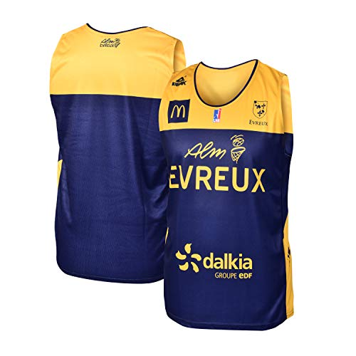 ALM Evreux - Maglia Ufficiale da Basket ALM Evreux 2018-2019, Unisex, MAILEXTEVR, Blu, S