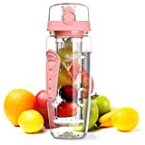 OMORC Fruit Infuser Water Bottle, 1L Leakproof Sport Water Bottle BPA Free Large