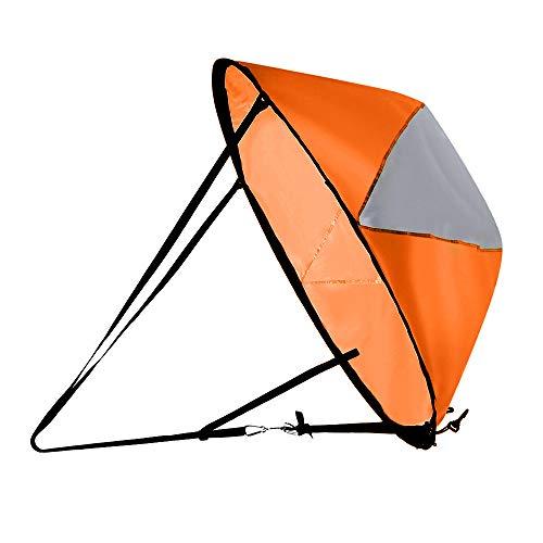 Anyutai - Vela de potencia de Kayak de tipo almacenamiento, plegable, portátil, ultraligero, utilizado para la pesca en lago, río y océano