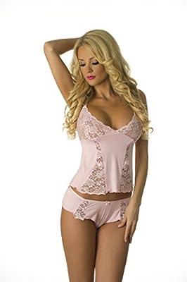 Velvet Kitten Sexy Cami Pajama Set 3210 XL Pink