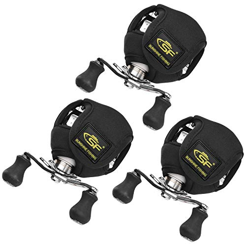 SF Low Profile Casting Baitcast Reels Cover Case Reel Pouch Glove for Fits 50 100 200 250-Series...