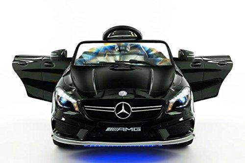 Licensed Mercedes CLA45 12V Kids Ride-On Car MP3 USB Player Battery Powered RC Parental Remote Toy (Black Metallic)