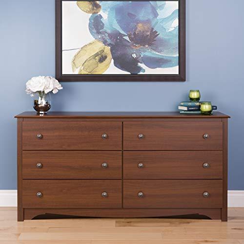Prepac Monterey 6 Drawer Dresser, Cherry