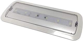 Luz de Emergencia LED empotrable o superficie 3W, Bateria Automatica. 200 Lumenes. 3 Horas de Autonomía. Color Blanco Frío 6500K. Homologada CE. (1 unidad)
