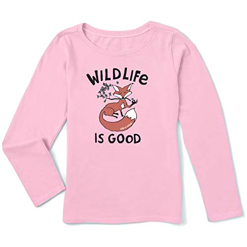 Life is Good Unisex-Crusher für Kinder, Happy Pink, Größe XXL