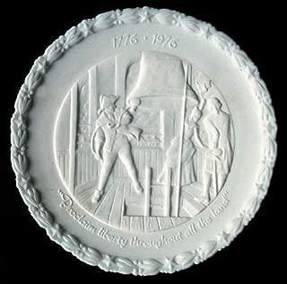 Fenton Handcrafted Milk Glass Bicentennial Plate 4 of 4 Liberty Bell