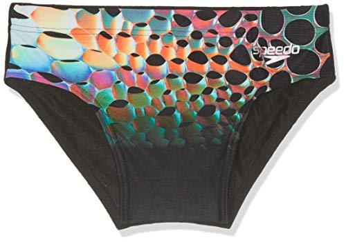 Speedo Herren Unterhosen MirrorGlare Placement Digital, Mehrfarbig (Mirrorglare/Black/Psycho Red), 6 (Herstellergröße: 36)