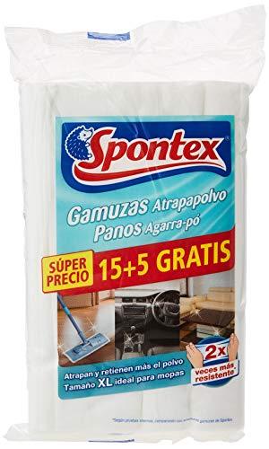 Spontex Gamuzas Atrapapolvo 20 Unidades, Negro, Pack de 1