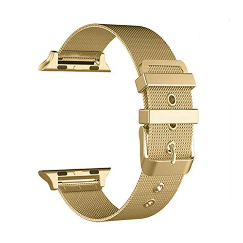 Correa de Bucle de Milanese Aplicar a Apple Watch Band Apple Watch 5 4 3 42mm 38mm 44mm / 40mm Pulsera de Acero Inoxidable Banda de la Banda Iwatch Banda
