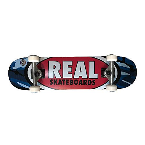 【REAL】リアル RS CAMO OVAL COMPLETE SKATEBOARD スケートボード コンプリート 完成品 初心者 中級者 ス...