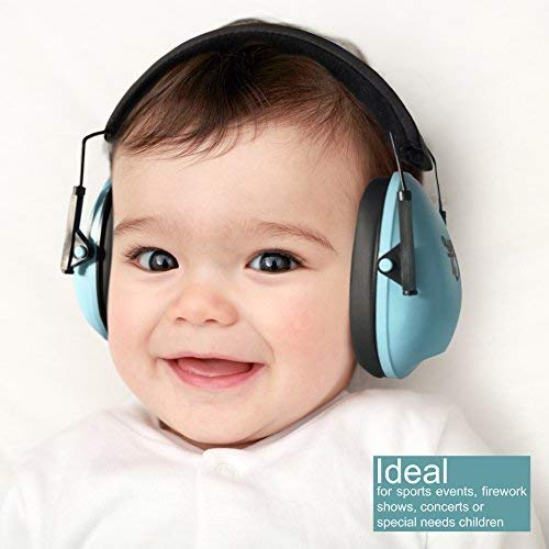 Image of My Happy Tot Noise Reduction Earmuffs for Infants and Children. Hearing Protection Headphones, Fully Adjustable for 0-12 yrs. Low Profile Cups, Padded 'Snug Fit' Professional Earmuffs for Kids.