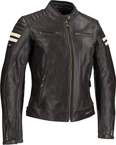 Segura Blouson moto LADY STRIPE Marron/Beige, Marron/Beige, 40 (T2)