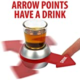 CLASSIC GAME, NEW TWIST: Remember Spin the Bottle? Spin the Shot is the same game, except you're playing for shots and there is no kissing involved; unless you want to. EASY TO PLAY: Just pour a shot into the included glass shot glass, spin the arrow...