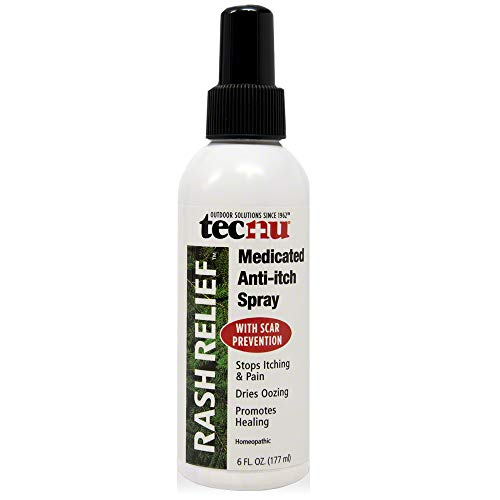 Tecnu Rash Relief Medicated Anti-Itch Spray, Soothes Itching and Prevents Scarring, 6.0 Fl Oz