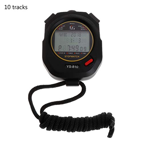 VIcoo Professionele handheld digitaal stopwatch sport looptraining chronograaf timer - 10 tracks