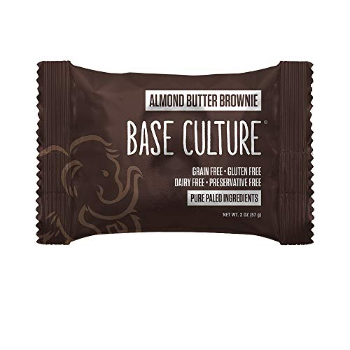 Base Culture Almond Butter Brownie   100% Paleo   No Added Sugar   Free of Gluten, Grain, Dairy, and Soy   6g Protein, 2 Ounce (Pack of 10)