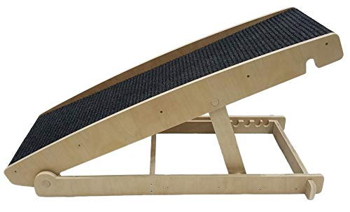 Strivide Adjustable Pet Ramp with Traction Mat - 44 Inches Long - Adjustable Height from 14 to 21 Inches