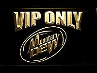 Mountain Dew VIP Only LED看板 ネオンサイン ライト 電飾 広告用標識 W30cm x H20cm イエロー