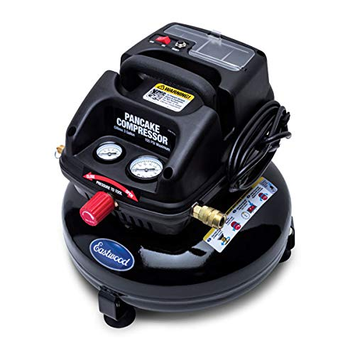 Eastwood 3 Gallon Oil Less Pancake Portable Air Compressor Certified New Oil-Free