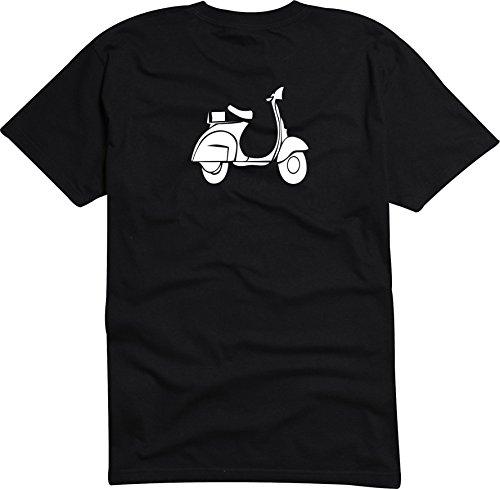 Black Dragon - T-Shirt Herren - JDM - Die Cut - schwarz - Scooter Custom Roller - L