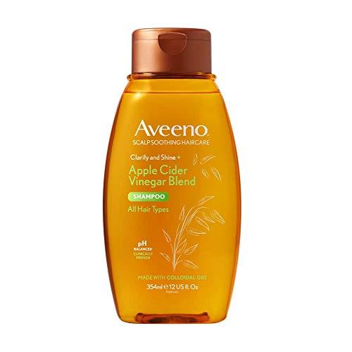 Aveeno juckende Kopfhaut beruhigendes & klärendes Shampoo mit Apfelessig für fettiges Haar, 354 ml