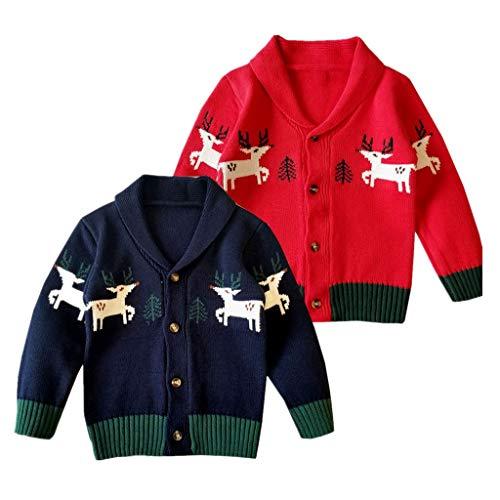⛄ 🎄 Bumplebee Weihnachts Baby Mädchen Junge Outfits My 1st Christmas Langarm Brief Strampler Gestreifte Hose Hat Haarband 4PCS Pyjamas