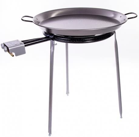 Paella Pan Polished Steel + Gas - Limited Special Price Burner Co Stand Set Las Vegas Mall and