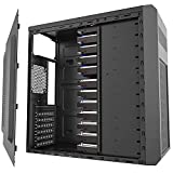 MOROVOL 12 pcs 3.5' HDD Drive Space ATX Mid-Tower PC Gaming Case High Airflow Metal Design, Steel Panels with Vents PC Case ATX/Micro-ATX/Mini-ITX Computer Chassis