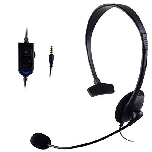 Nogan Auriculares USB de una Cara con micrófono Auriculares para Colocar sobre Las Orejas Auriculares para computadora para PC Auriculares con Cable para el seminario Web de Skype Realistic