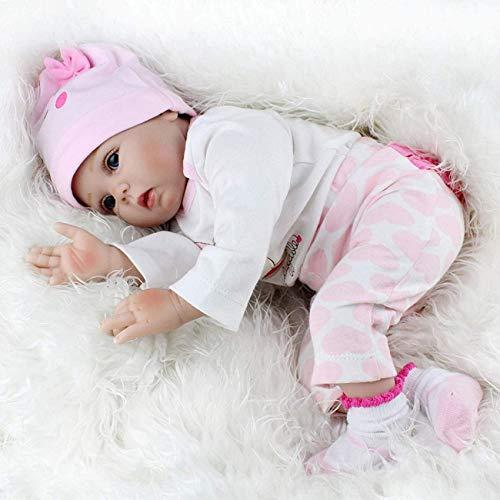 Lifelike Realistic Saskia Reborn Baby Dolls,22 Inch Blue Eyes Baby Doll Reborn Silicone Vinyl Full Body Princess Lifelike Dolls Kids Birthday Xmas Gift,55CM LATT LIV
