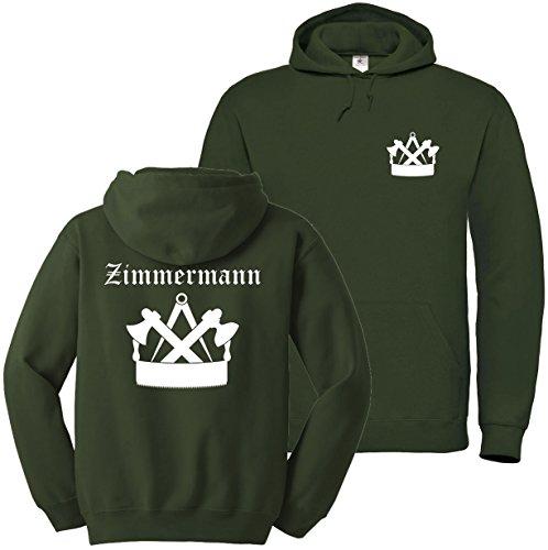 Textildruck Universum Hoodie Zimmermann Zunftwappen 3