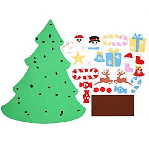 ForceSthrength Feltro Albero di Natale Calendario Natale Conto alla Rovescia Calendario Pendente Multicolore A