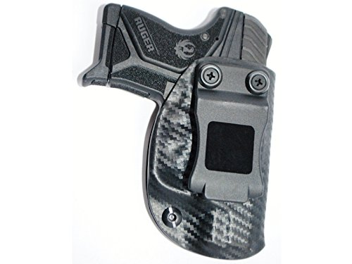 Black Jacket Holster IWB KYDEX Holster: fits Ruger LCP II (2) (Carbon Fiber Black - Right Handft Hand)