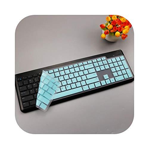 Toetsenbord Cover voor Dell Km117 draadloos toetsenbord Ultra dun siliconen Dell draadloos toetsenbord beschermende huid Eén maat Witblauw.