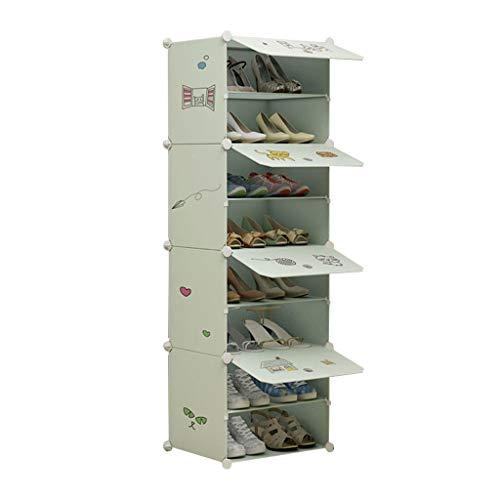 Xiuyun Meuble À Chaussures 8 Rangée Debout Dessin Animé Photos Cube Modulaire Verrouillage Organisateur De Chaussure Pour Le Placard Couloir Chambre (Color : A, Size : M)