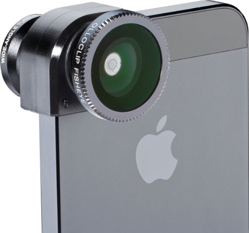 Olloclip Lens - Objetivo para Apple iPhone 5/5S, Negro