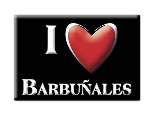 Enjoymagnets BARBUÑALES Souvenir IMANES DE Nevera Reino Unido ARAGÓN IMAN Fridge Magnet Corazon I Love (VAR. Black)