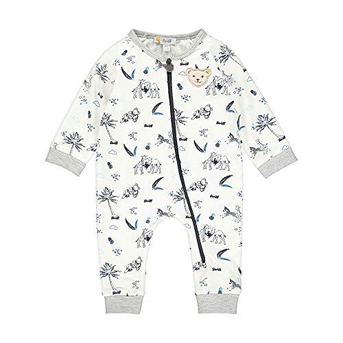 Steiff Baby-Jungen Strampler, Weiß (Bright White 1000), 50 (Herstellergröße: 050)