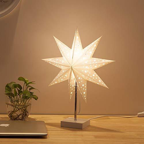ZYJ Nachtlicht-Romantik Schlafzimmerbett Bedside Origami Pinwheel Paper Star Table Lampenaufbau für...