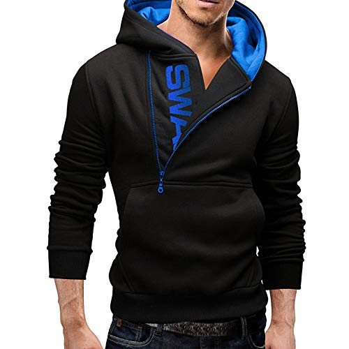 Leoie Symbol Sweatshirt for Mens Plus Size Hoodies Men Fashionable Letter  Logo Casual Long Sleeve Sweatshirts Mens Autumn Fashion Hooded Pullover  Tops for Men Boys Hoodies Black-Blue L: Amazon.in: Clothing & Accessories