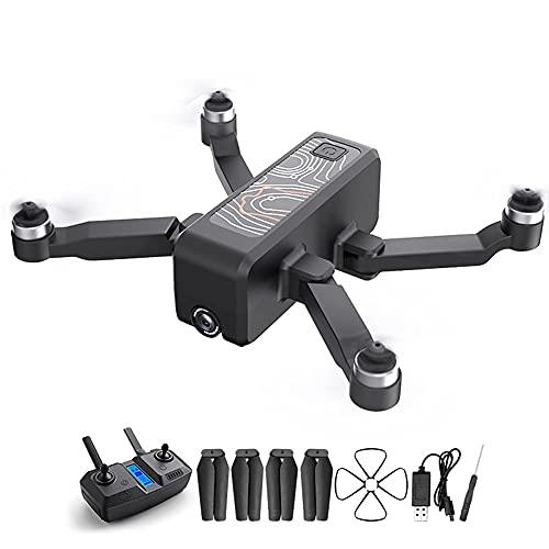 Dron con cámara Dron con cámara 4K, Tiempo de Vuelo de 20 Minutos, Zoom Digital 5X, GPS 5G WiFi, retención de altitud, sígueme, Seguimiento Inteligente, Retorno automático a casa, Motor sin escobilla