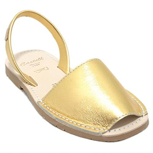 Castell 1097 - Avarcas Ibicencas Menorquinas Gold, Gold - Gold - Größe: 38 EU