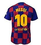 Camiseta 1ª equipación FC. Barcelona 2019-20 - Replica Oficial con Licencia - Dorsal 10 Messi - Adulto Talla XL