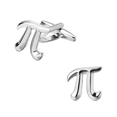 ODETOJOY 2pcs/Set Pi 3.14 Math Manschettenknöpfe Mens Manschettenknöpfe, benutzerdefinierte Hochzeit Manschettenknopf, Wissenschaft, Physikalische Chemie Manschettenknöpfe