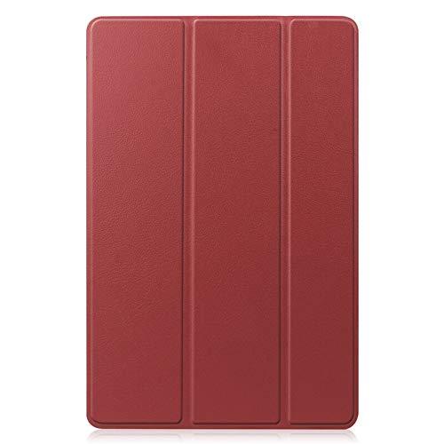 HHF Pad Accesorios para la lengüeta S7 T870 T875, Soporte magnético de la Caja Cubierta de la Tableta de Samsung Tablet S7 11inch SM-T870 (Color : Marrón)
