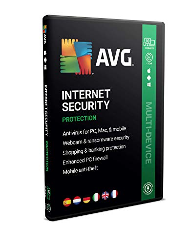 AVG Internet Security 2020 | Multidispositivos | 10 dispositivos | 1 Año | En Caja