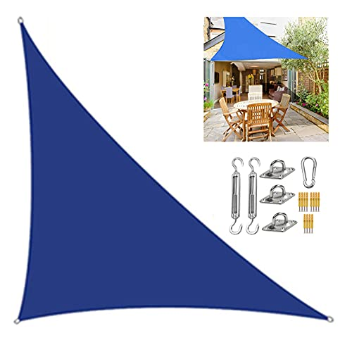 HRD Toldo impermeable de 2 x 2 x 2 m, protección UV con kit de fijación, triángulo, lona para patio, jardín, playa, verano fresco
