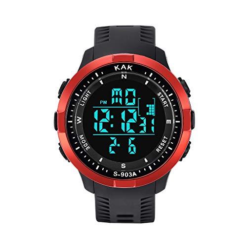 Moda Relojes Hombre Elegante Accesorio Barato Mejor Regalo,Casual Reloj ElectróNico A Prueba De Agua Deportivo De Alta Gama MultifuncióN 50M