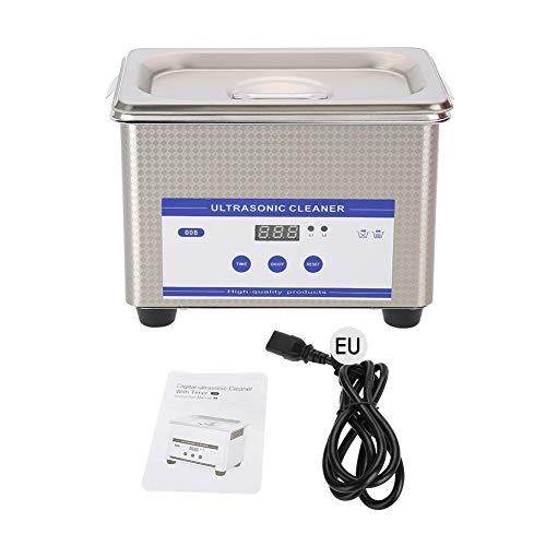 lahomie Ultraschallreiniger, mit Timer & Heizung, Digitale Edelstahl Ultraschallreinigungsgerät 800ml für zuhause Gläser Düse Zahnersatz Schmuck-Reiniger, EU Plug