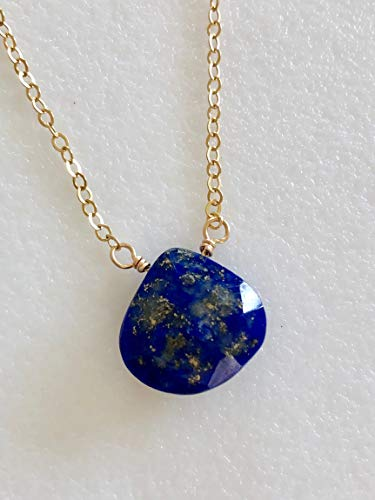 Lapis Lazuli Necklace, Large Blue Lapis, Luxe AAA Gemstone, Deep Blue Lapis, Sepember Birthstone, Bridal, Gold Fill, Sterling Silver.